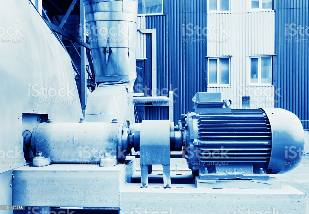 Electric motor in factory stock photo