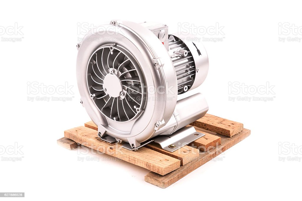 Electric motor isolated on the white background stock photo