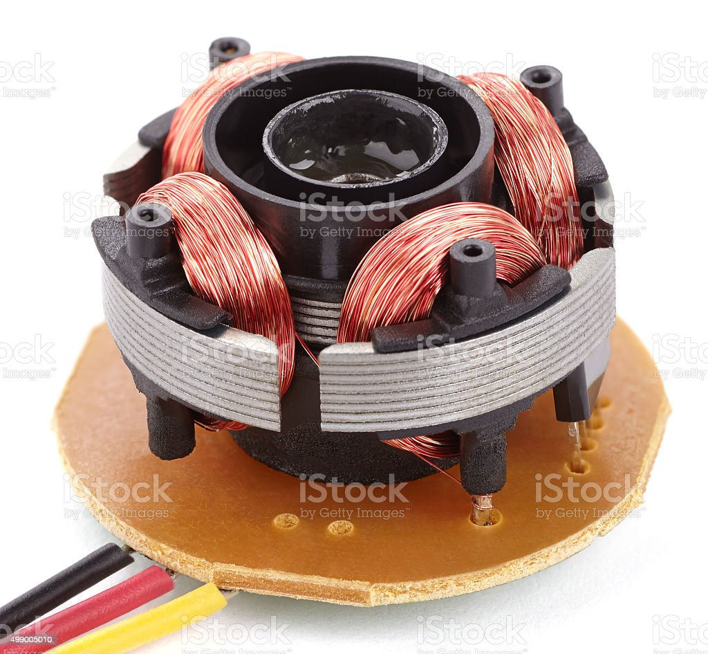 electric motor on board stock photo
