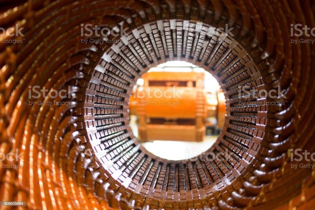 electric motor rotor of stock. stock photo