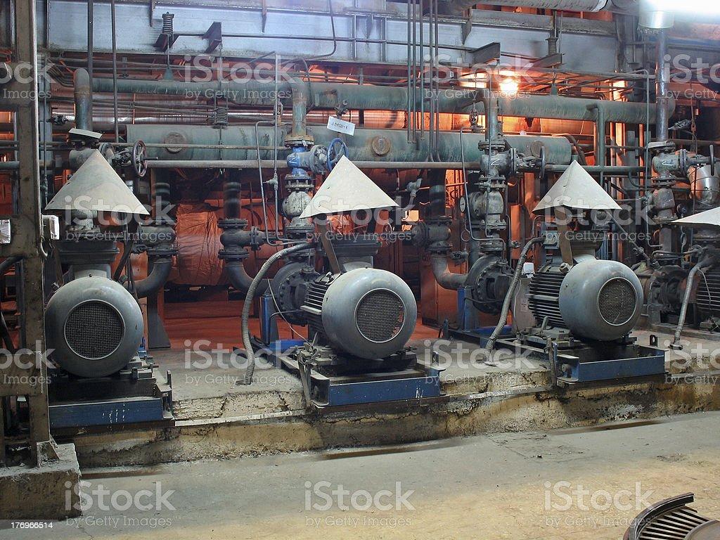Motores eléctricos condução bombas de água foto de stock royalty-free