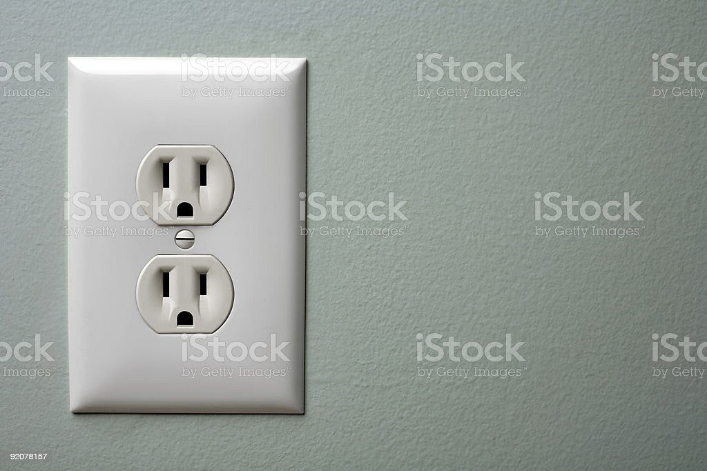Electric Outlet royalty-free stock photo