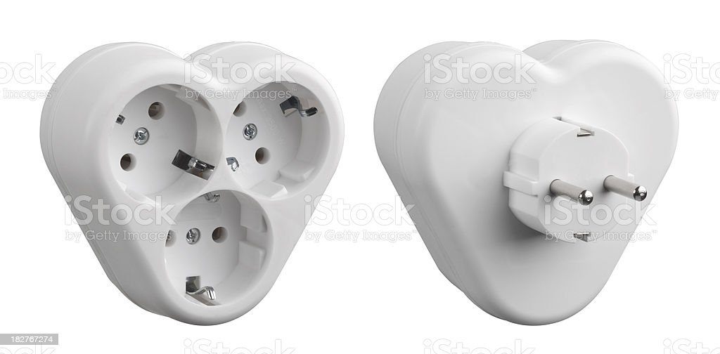 electric outlet - socket royalty-free stock photo