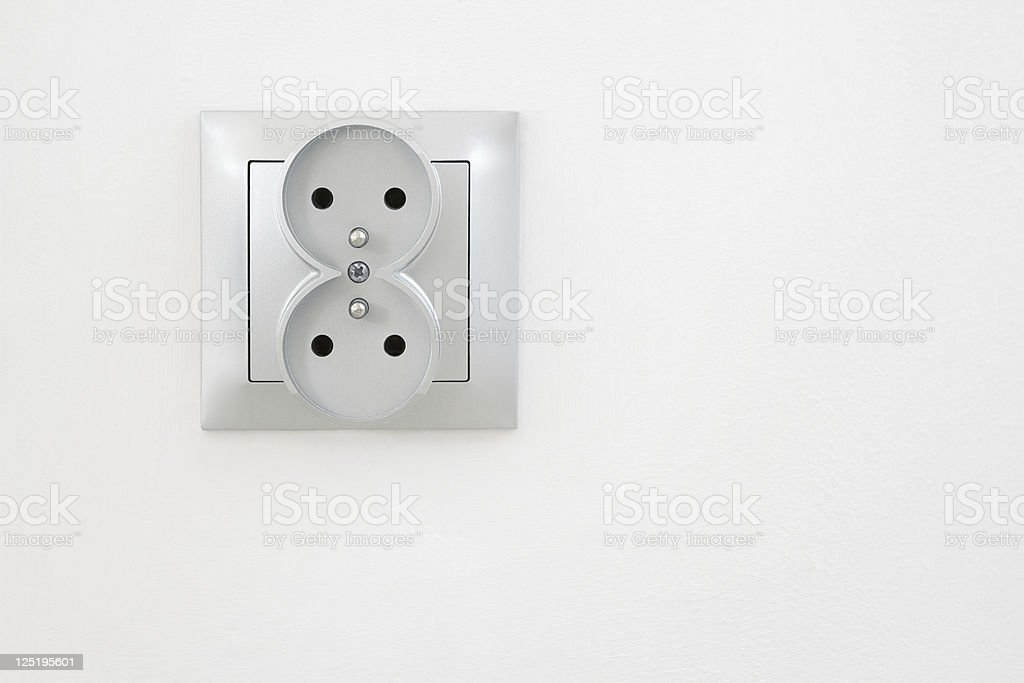 Electric outlet with clipping path royalty-free stock photo