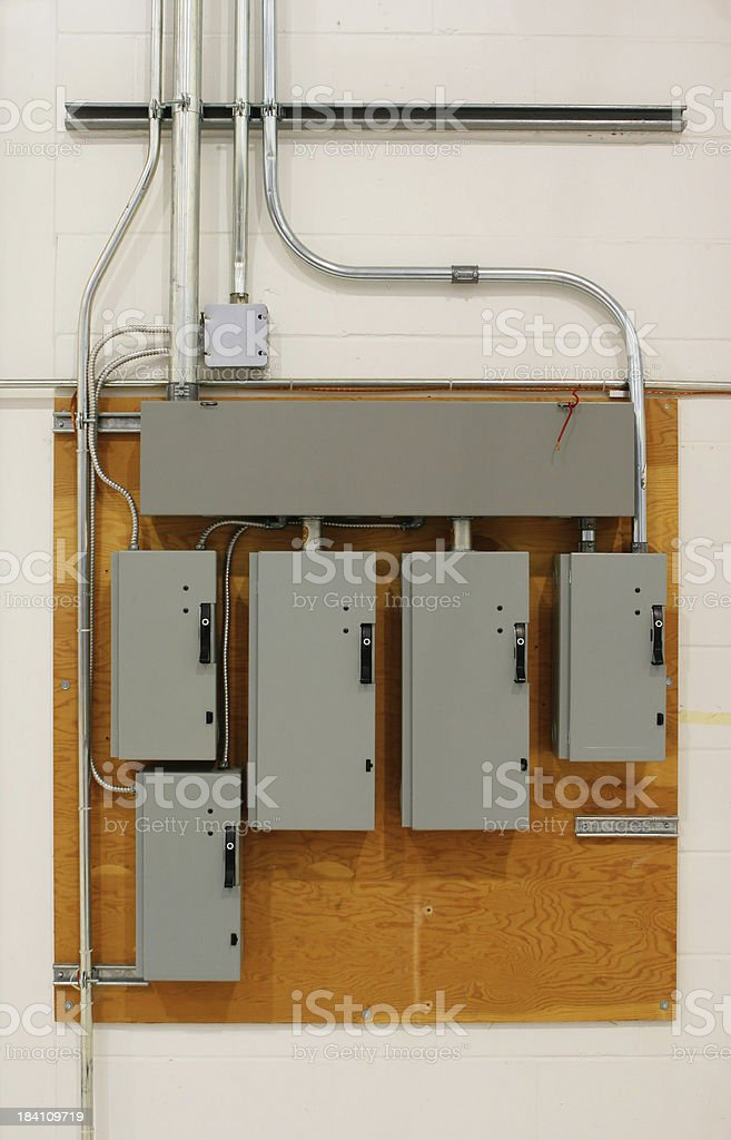 Electric panel board stock photo