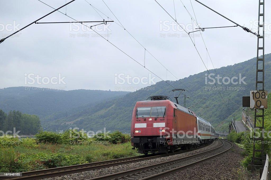 Electric passenger train stock photo
