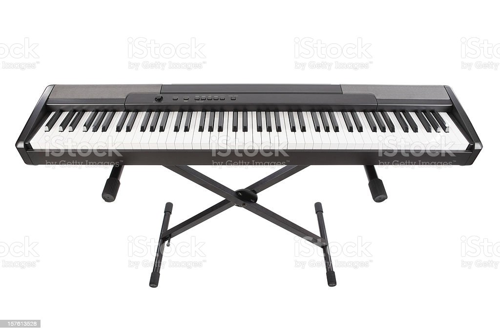 Electric Piano Isolated On White stock photo