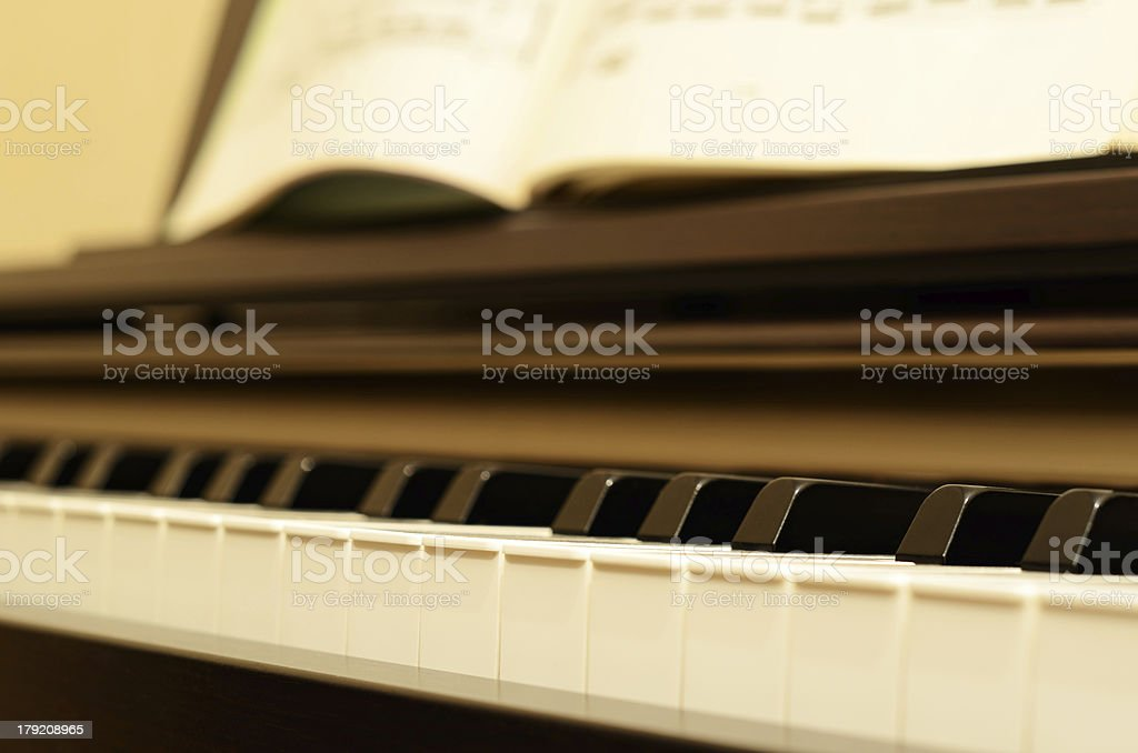 Electric piano royalty-free stock photo