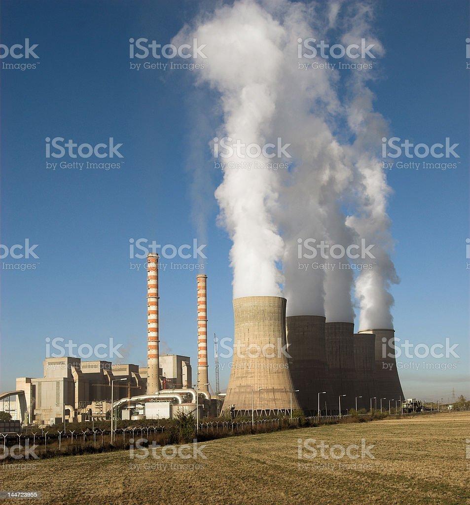 Electric plant Kozani, Greece royalty-free stock photo