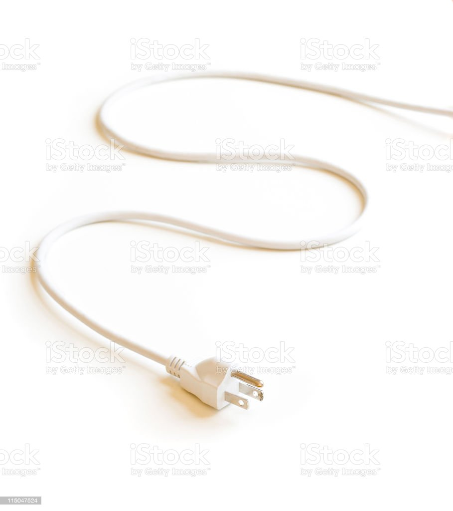 Electric Plug on White royalty-free stock photo