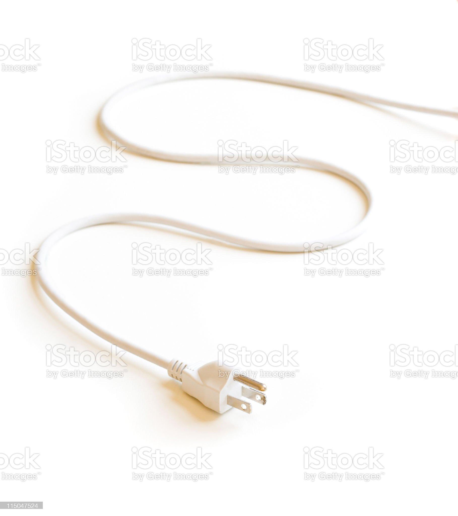 Electric Plug on White royalty-free stock photo