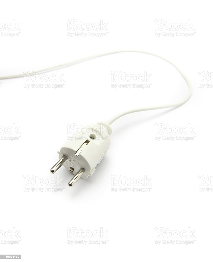 Electric plug stock photo