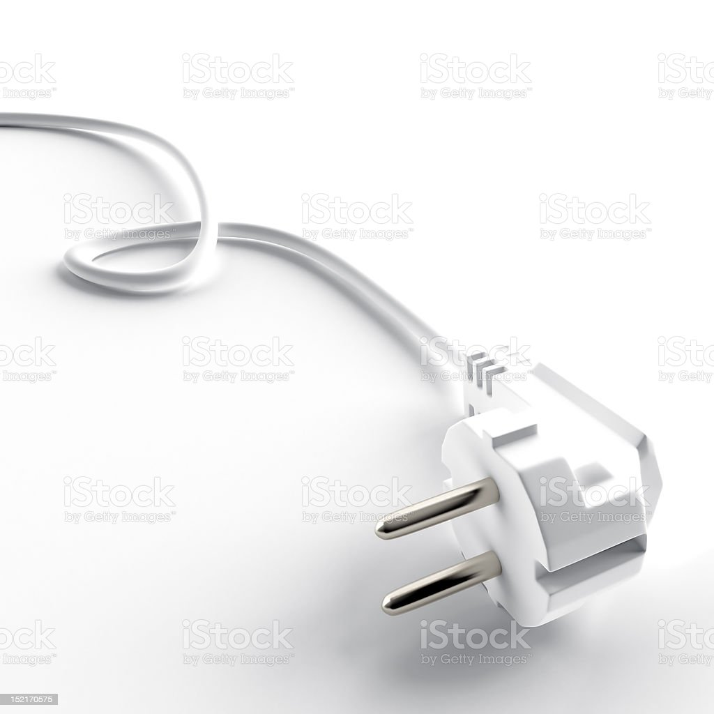 electric plug royalty-free stock photo