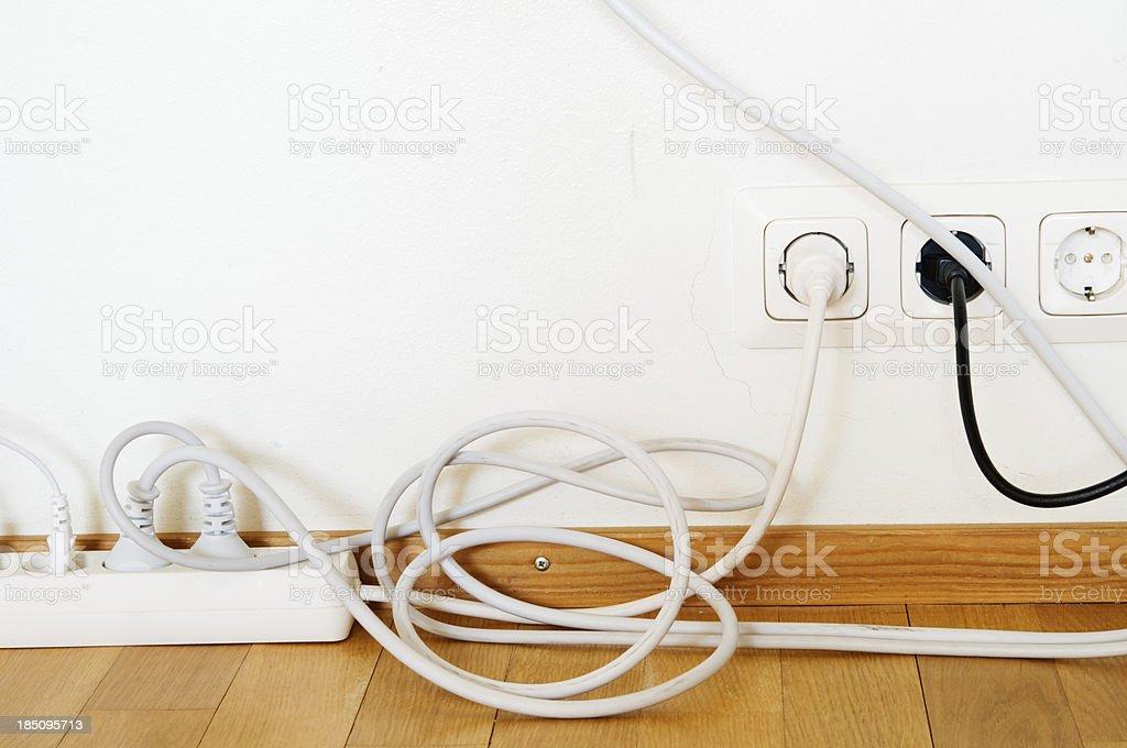 Electric plugs stock photo