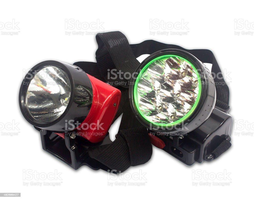Electric Pocket Flashlight On White Background stock photo