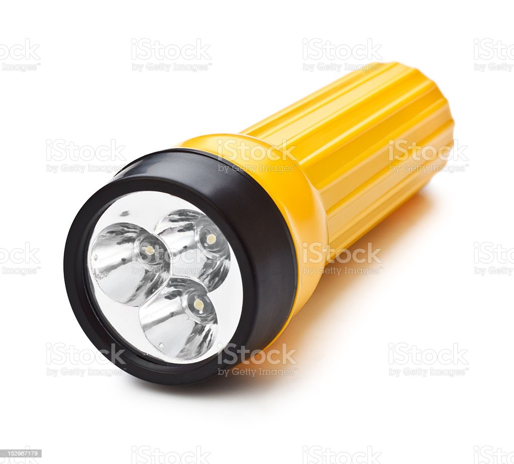 Electric Pocket Flashlight stock photo