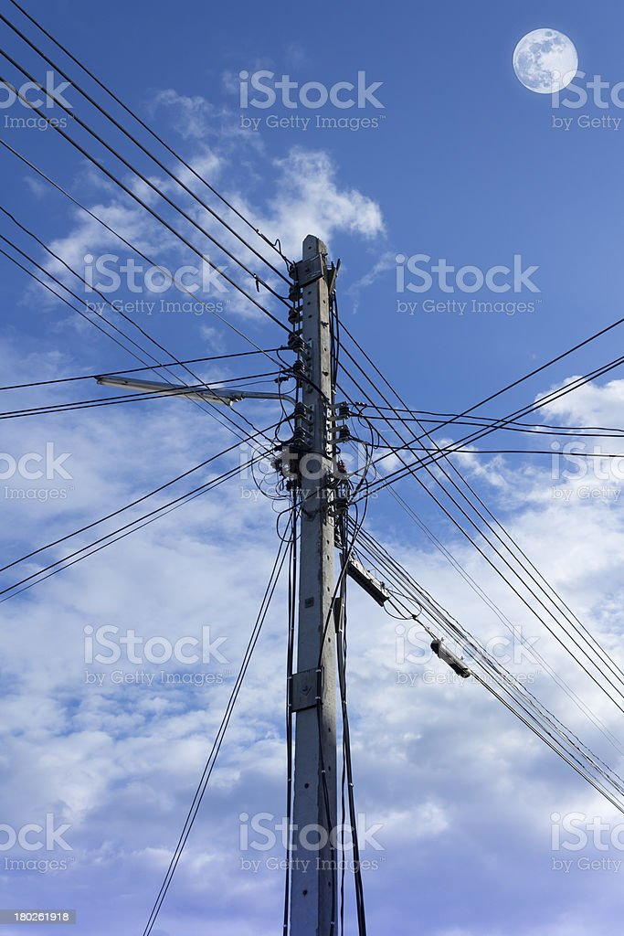 Electric pole. royalty-free stock photo