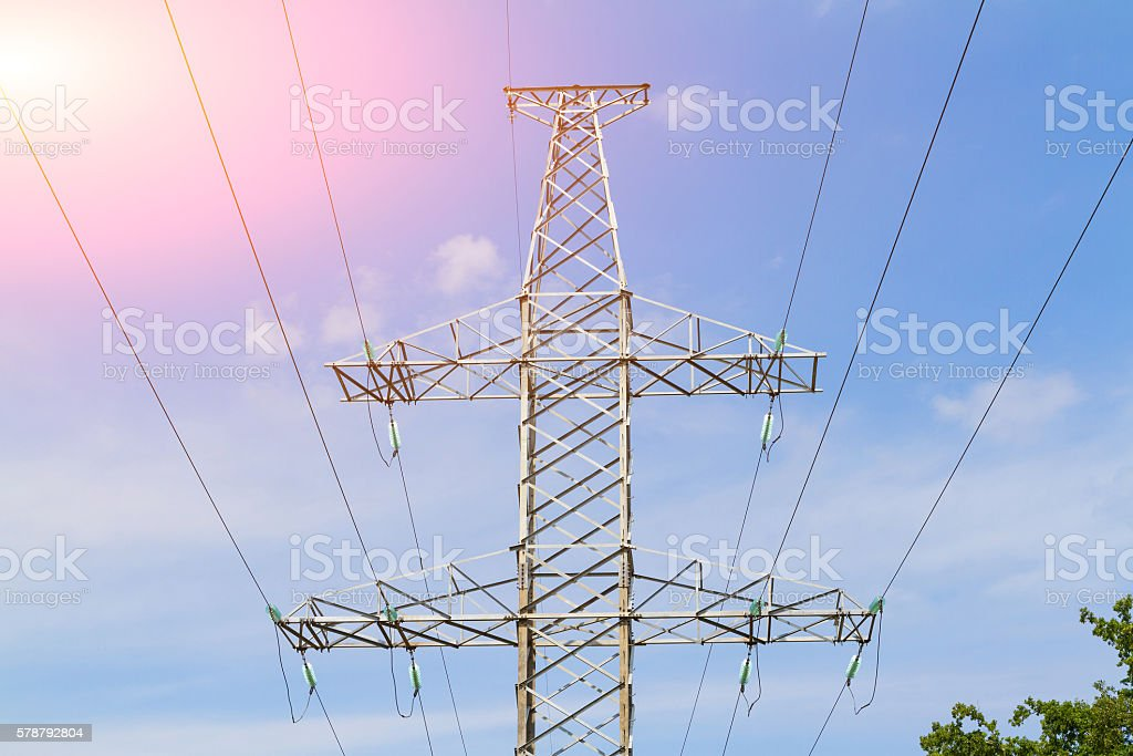 Electric pole. stock photo