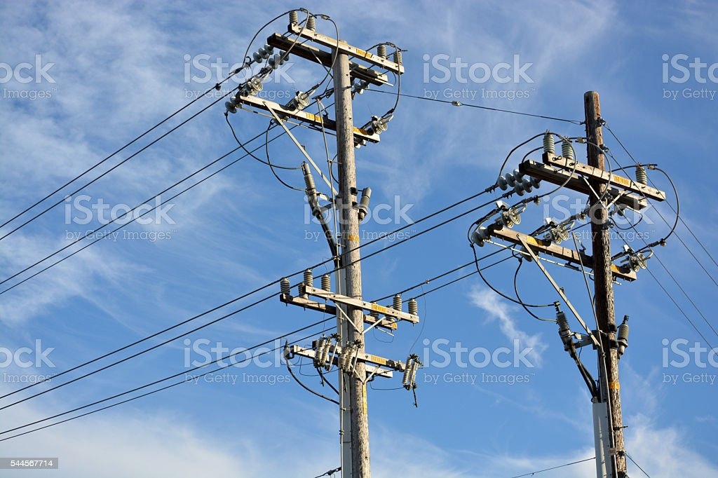 Electric Poles royalty-free stock photo