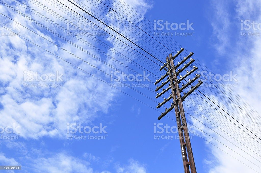 electric post royalty-free stock photo