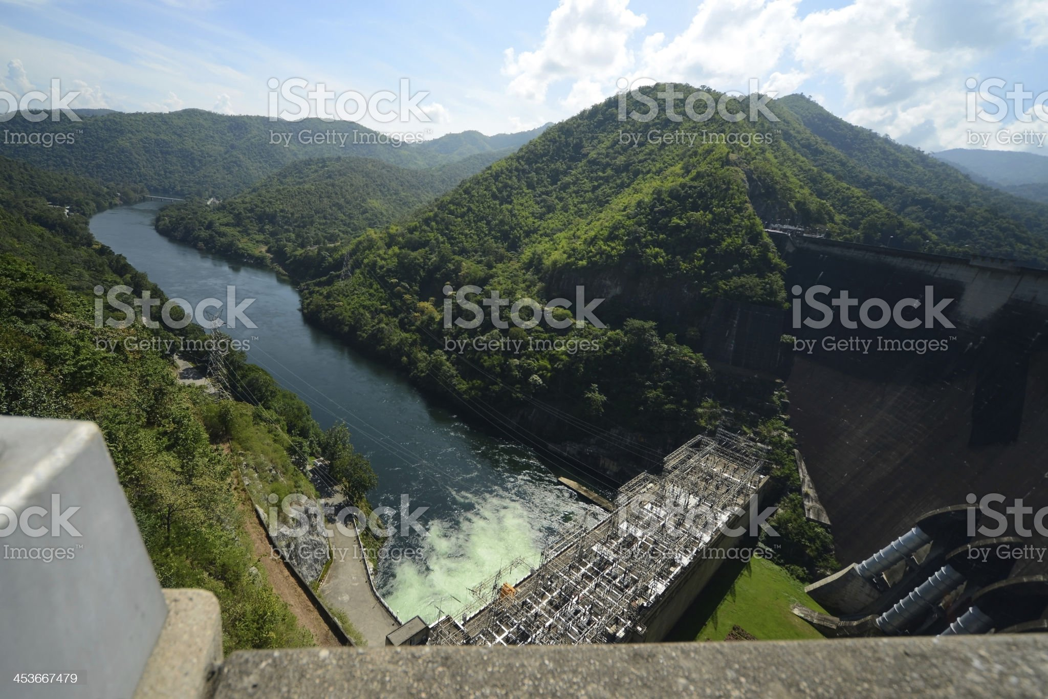 Electric Power Dam in Thailand royalty-free stock photo