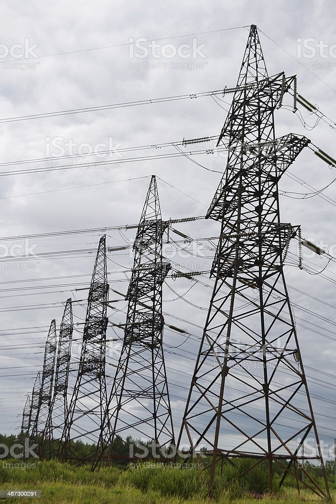 Electric power lines. royalty-free stock photo