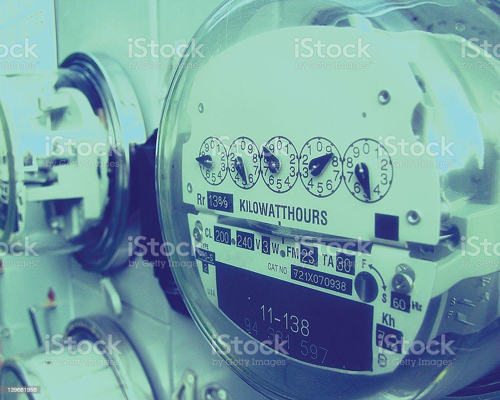 Electric Power Meter stock photo