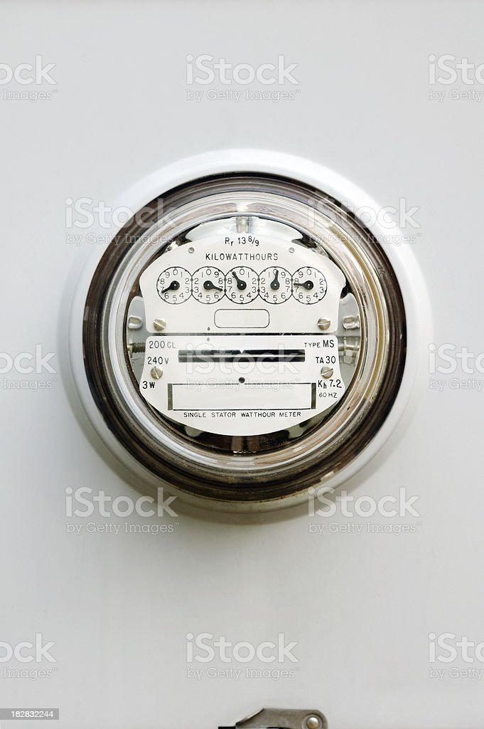 Electric Power Meter royalty-free stock photo