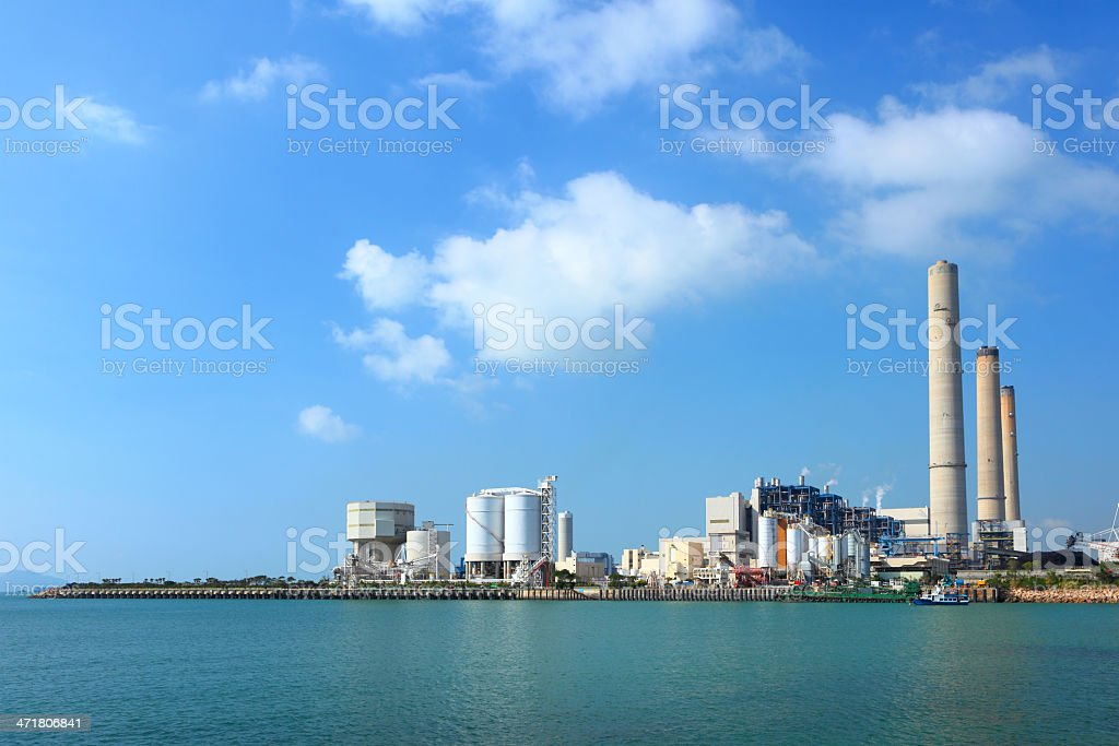 Electric power plant royalty-free stock photo
