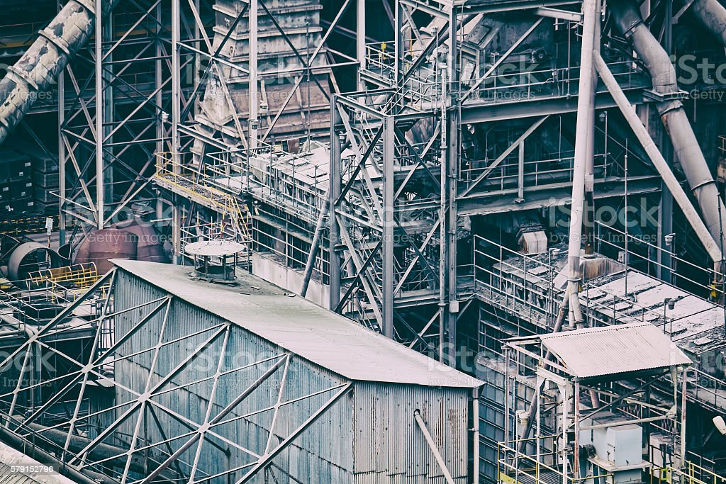 electric power plant stock photo