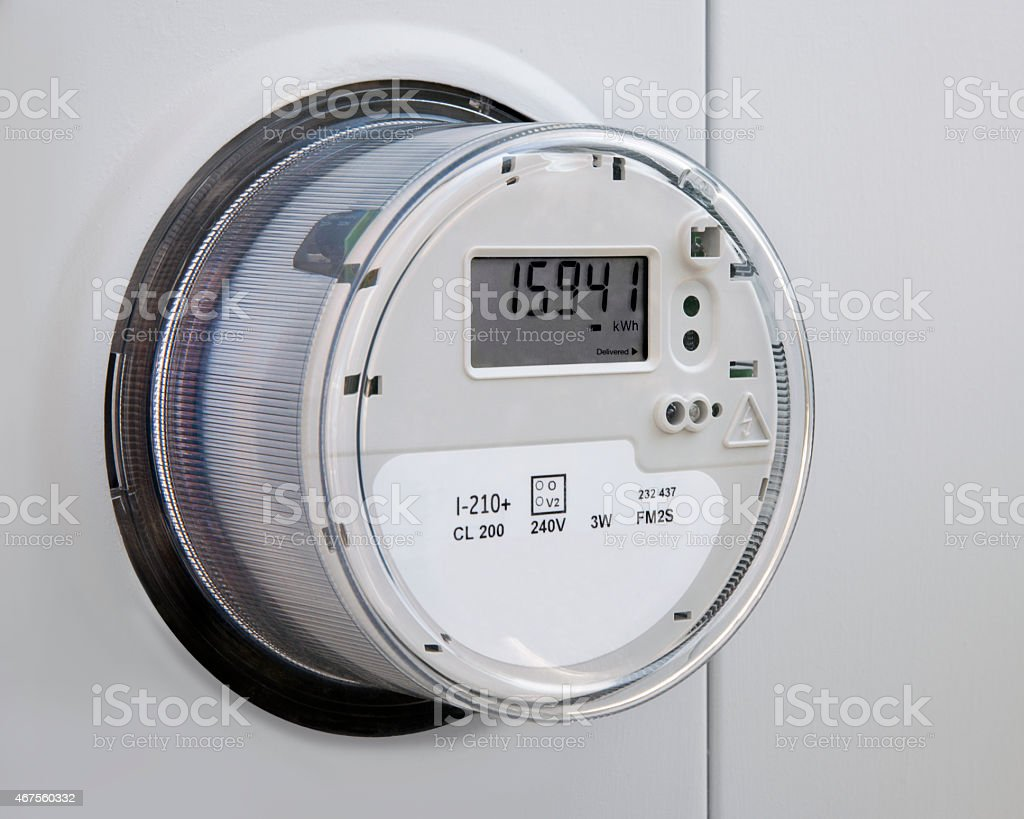 Electric Power Utility Meter stock photo