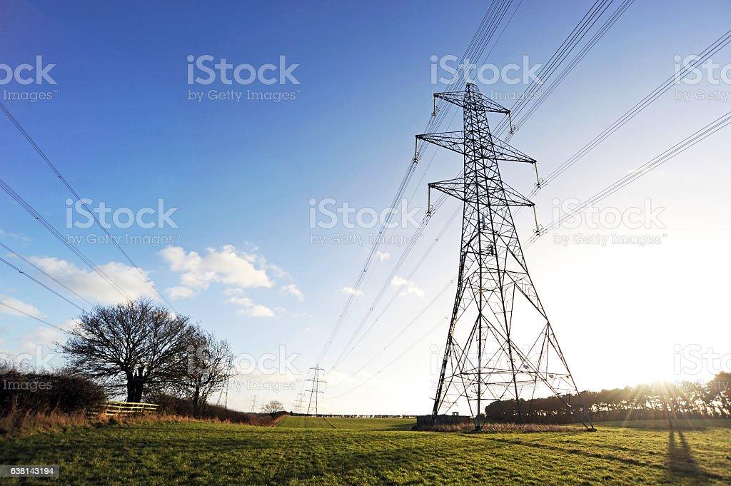 Electric Pylons-Stock Photo stock photo