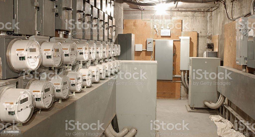 Electric room. stock photo