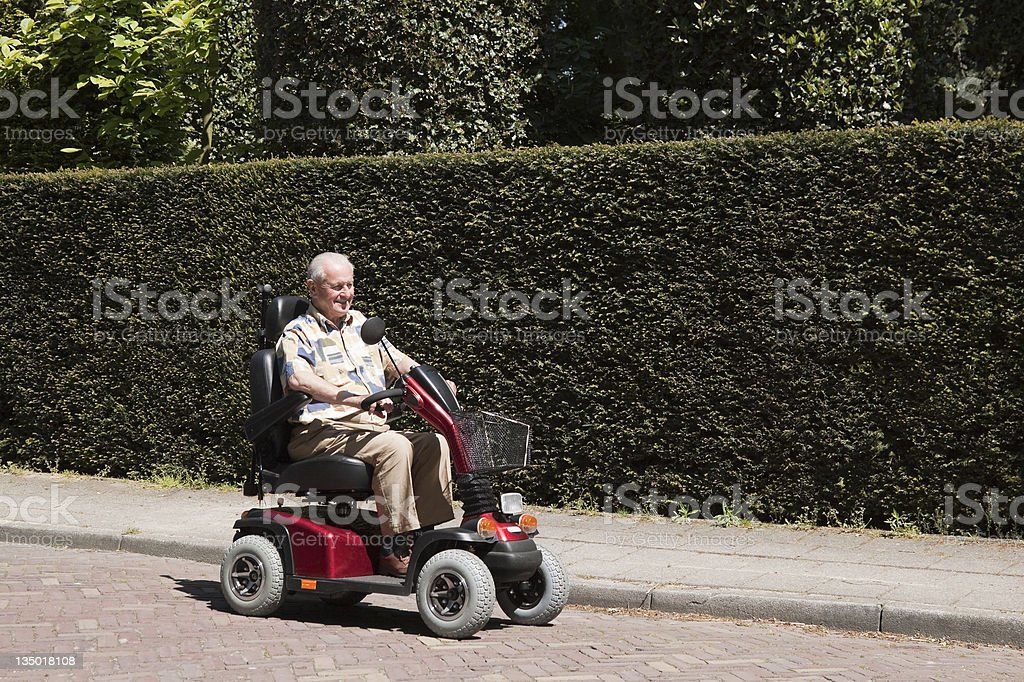 Electric scooter royalty-free stock photo
