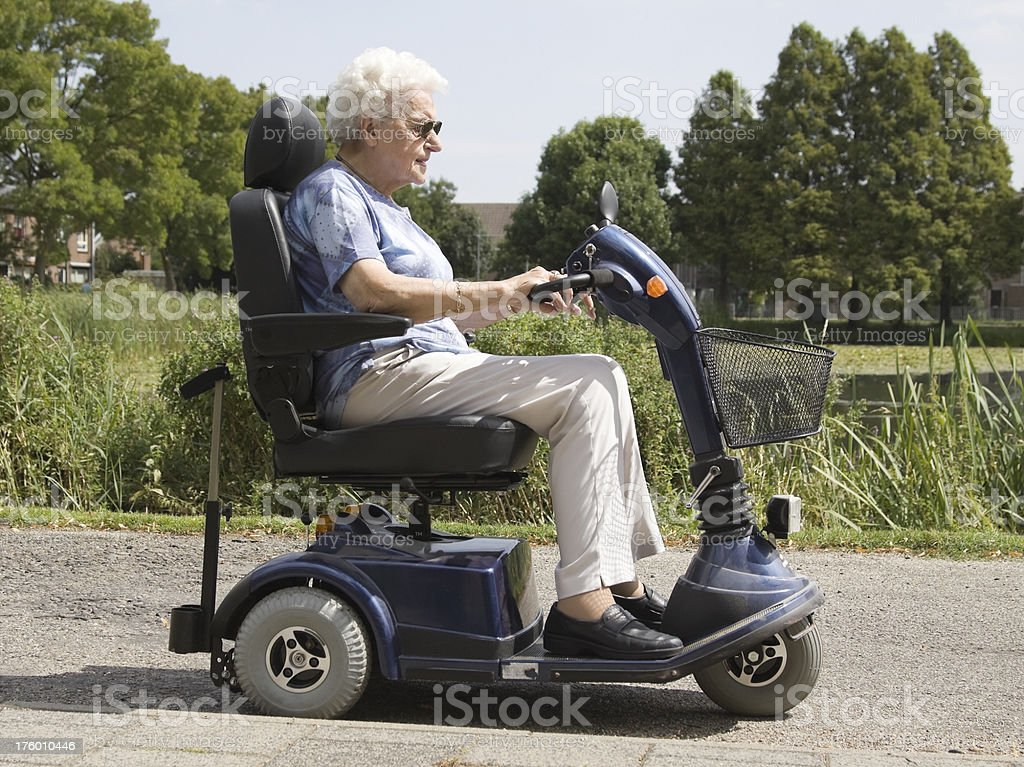 Electric scooter stock photo
