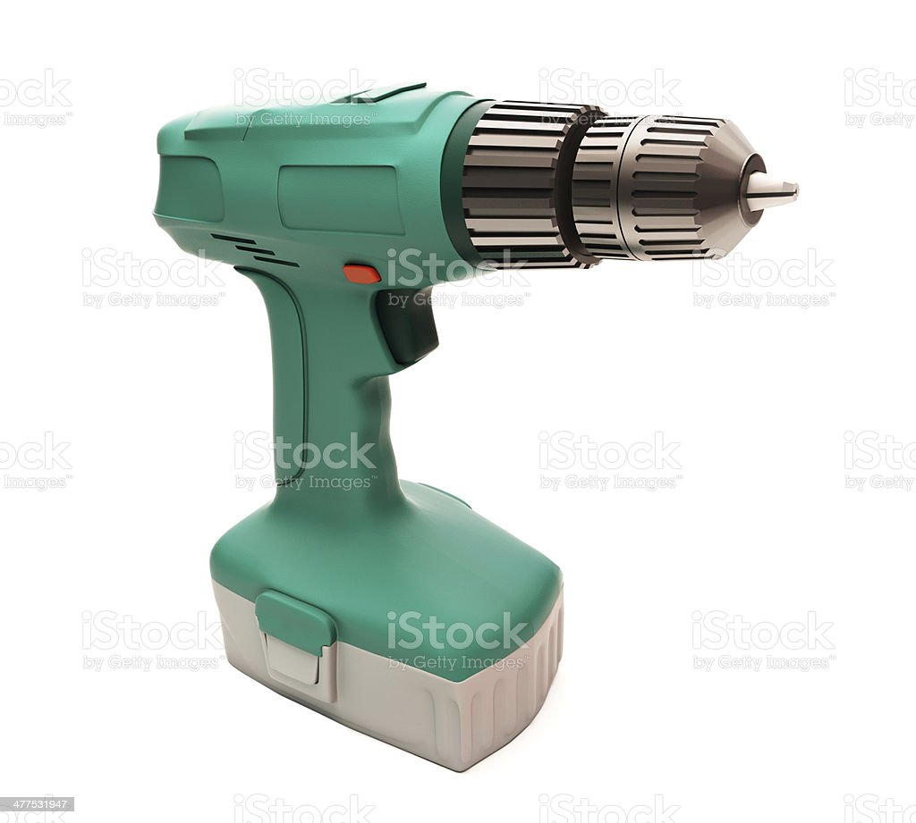 Electric screwdriver isolated stock photo