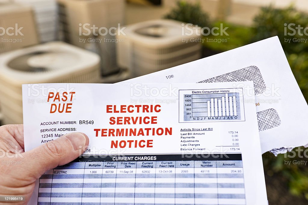 Electric Service Termination Notice royalty-free stock photo