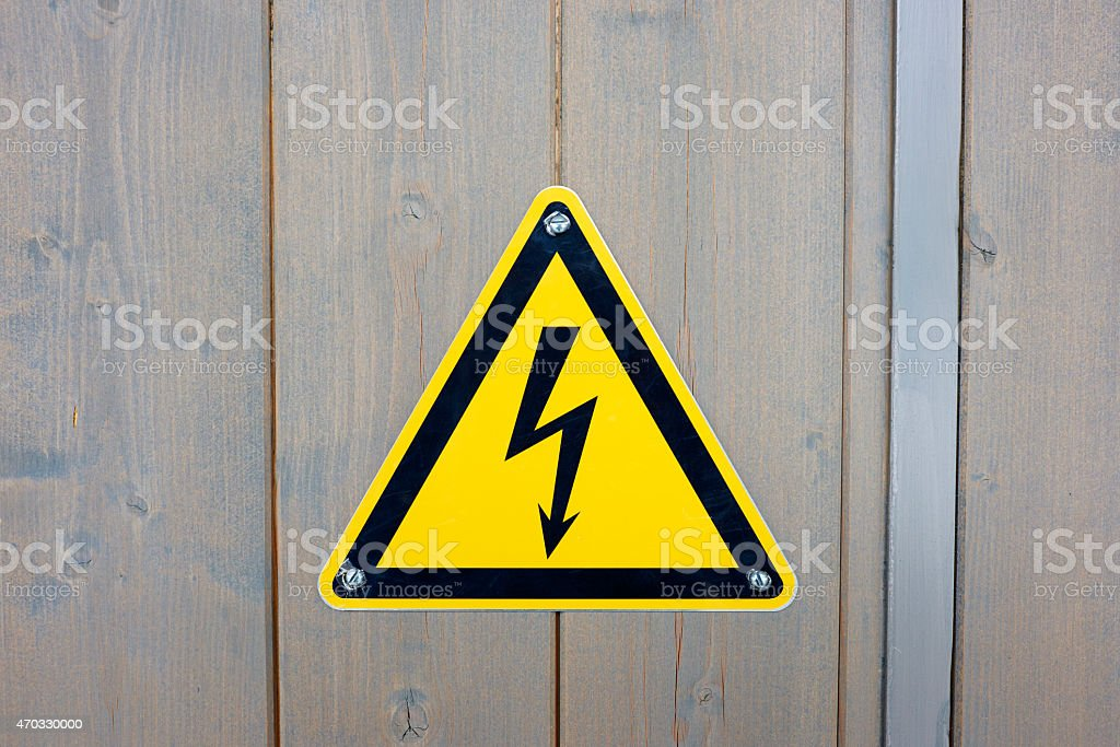 Electric Shock Sign stock photo