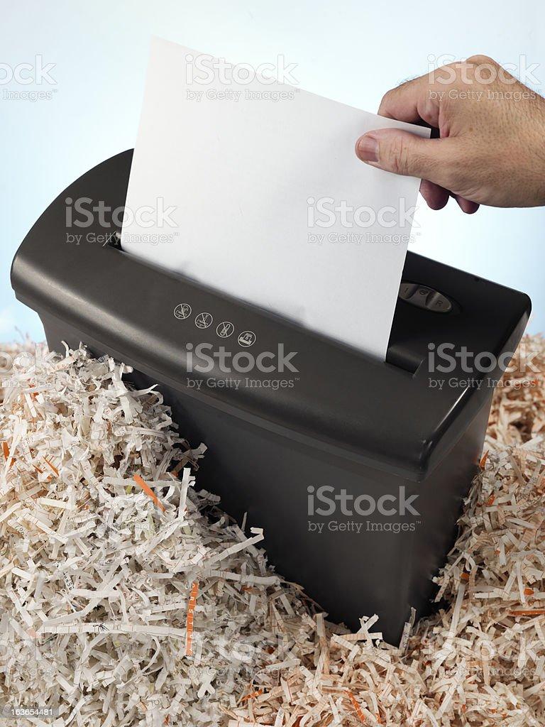 electric shredder stock photo