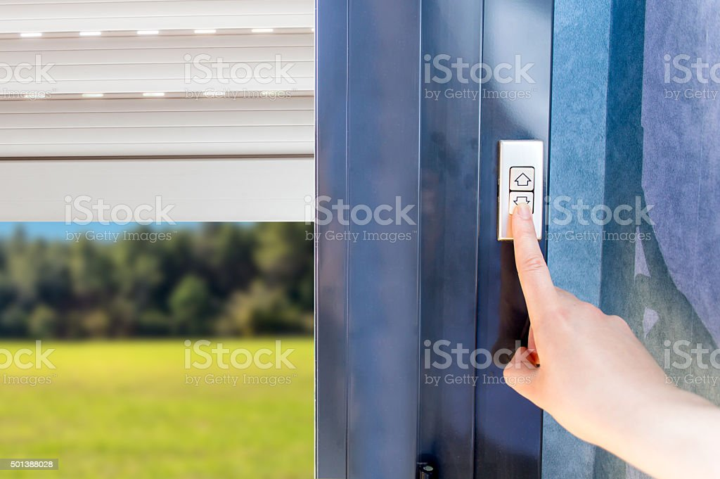 electric shutters stock photo