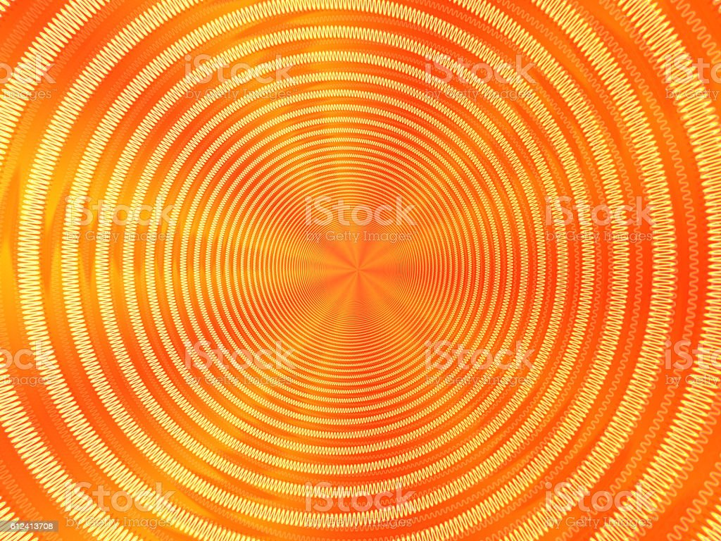 Electric spiral heated to a red, disappearing into perspective stock photo