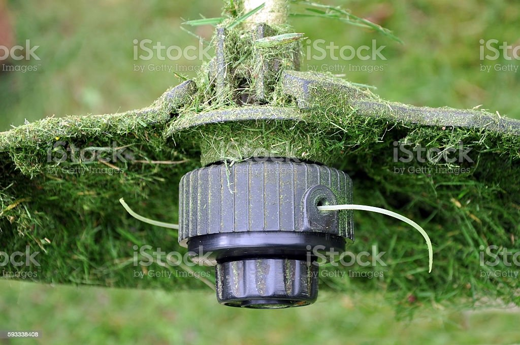 Electric spit with a thread and a protective casing. stock photo