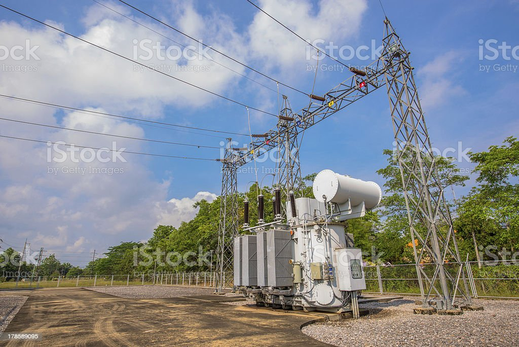 Electric station royalty-free stock photo