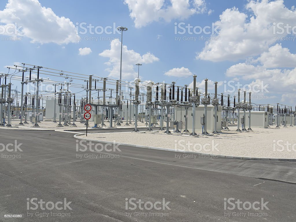 Electric station stock photo
