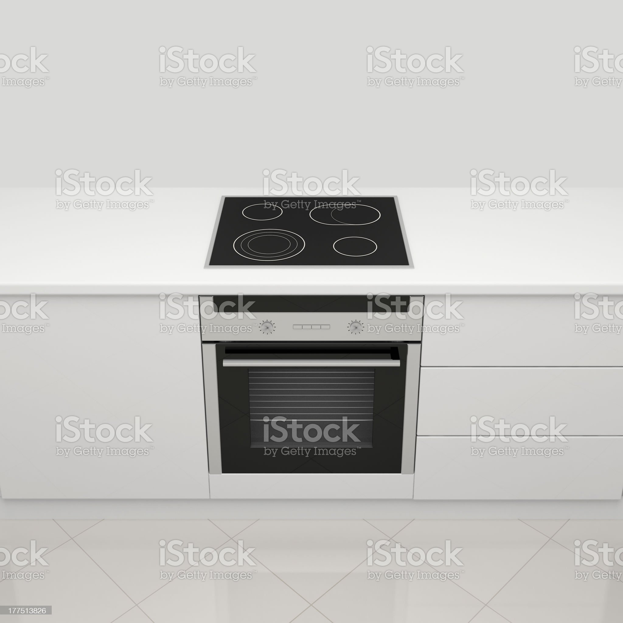 Electric stove and oven. royalty-free stock photo
