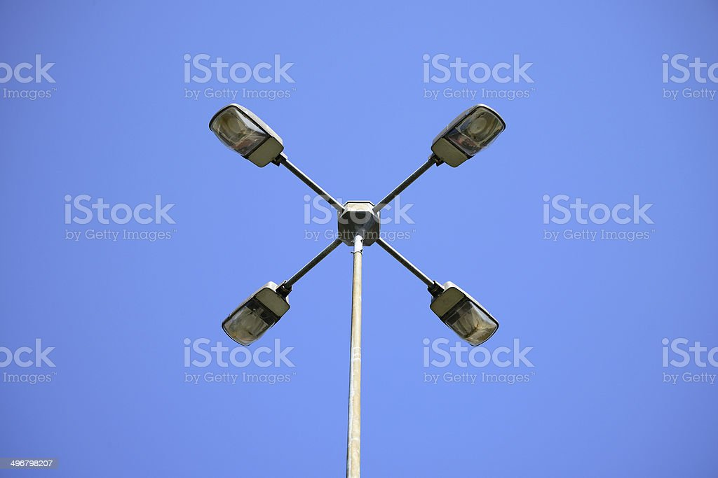 Electric street lamp royalty-free stock photo