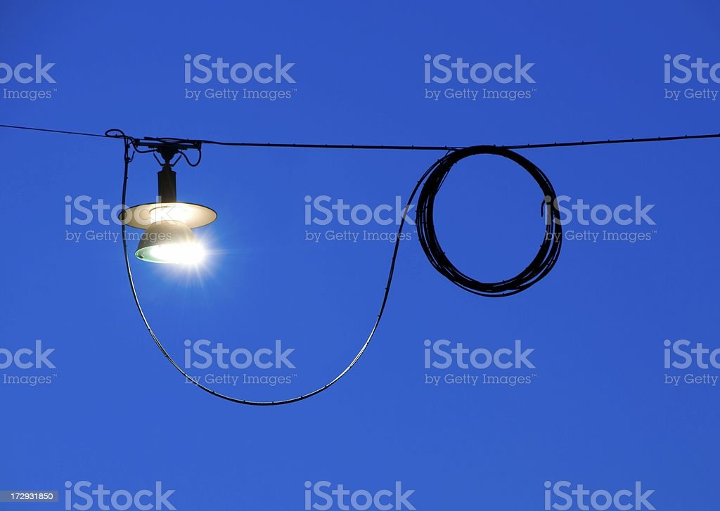Electric street light royalty-free stock photo