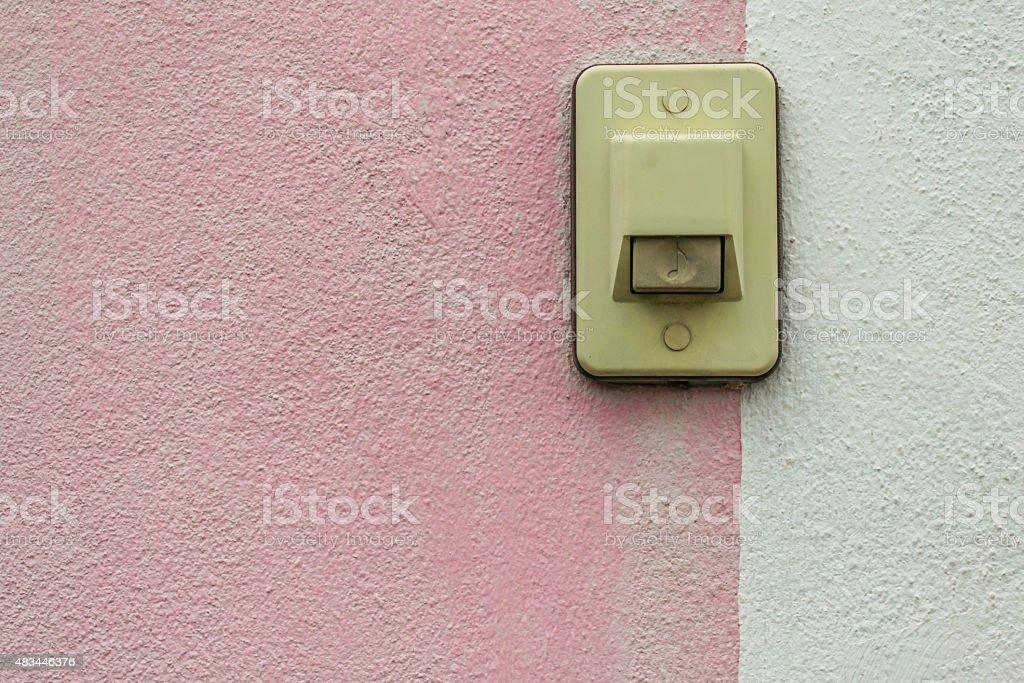 Electric switch Buzzer stock photo