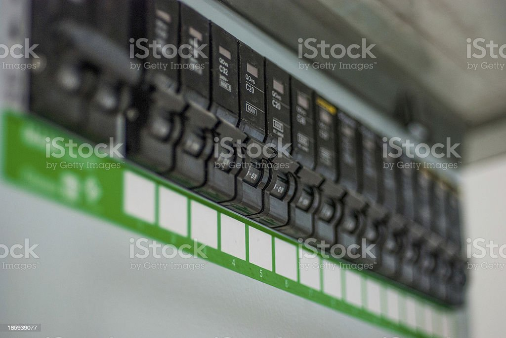 Electric switch on a  control panel royalty-free stock photo