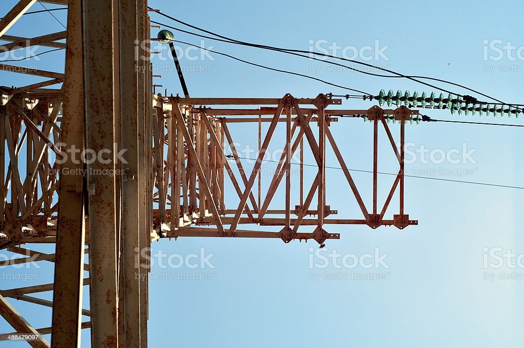 Electric Tower Below stock photo